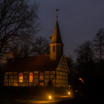 Nachtaufnahme in Cloppenburg